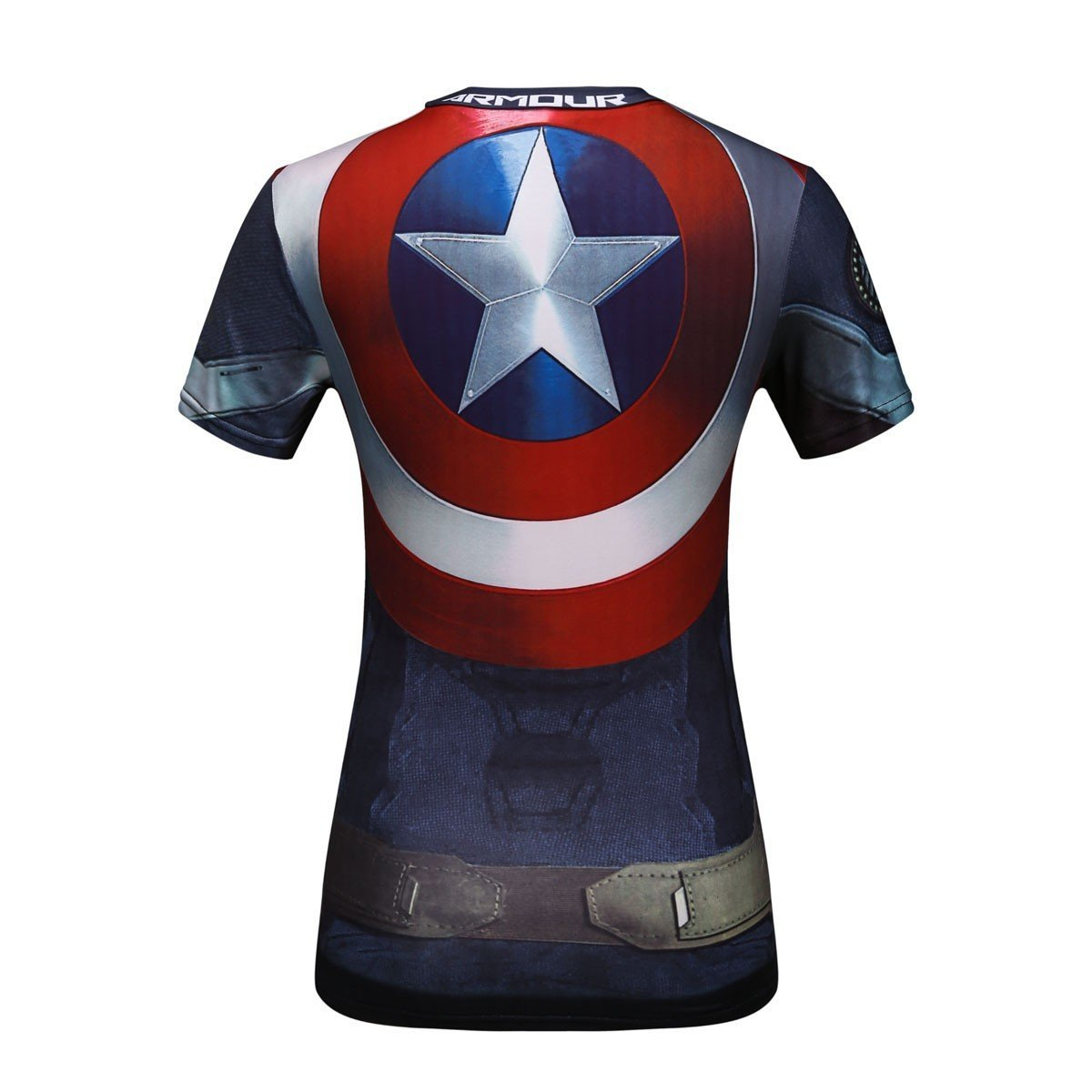 fitness corsa per attivit/à sportiva motivo: Capitan America super eroe yoga T-shirt da donna Cody Lundin/® danza