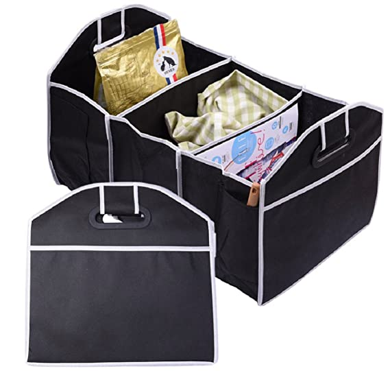 Foldable Storage Bags New Fashion Non-woven Toys Food Storage Container Bags Box Styling Auto Interior Accessories Supplies Gear