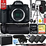 Canon EOS 7D Mark II 20.2MP DSLR Camera Wi-Fi Adapter Kit Triple Battery & Battery Grip Complete Video Recording Bundle - 2018 Beach Camera 24 Piece Value Bundle