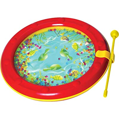Musical Toys MP482 Ocean Wave Drum (Red) : Baby Musical Toys : Baby
