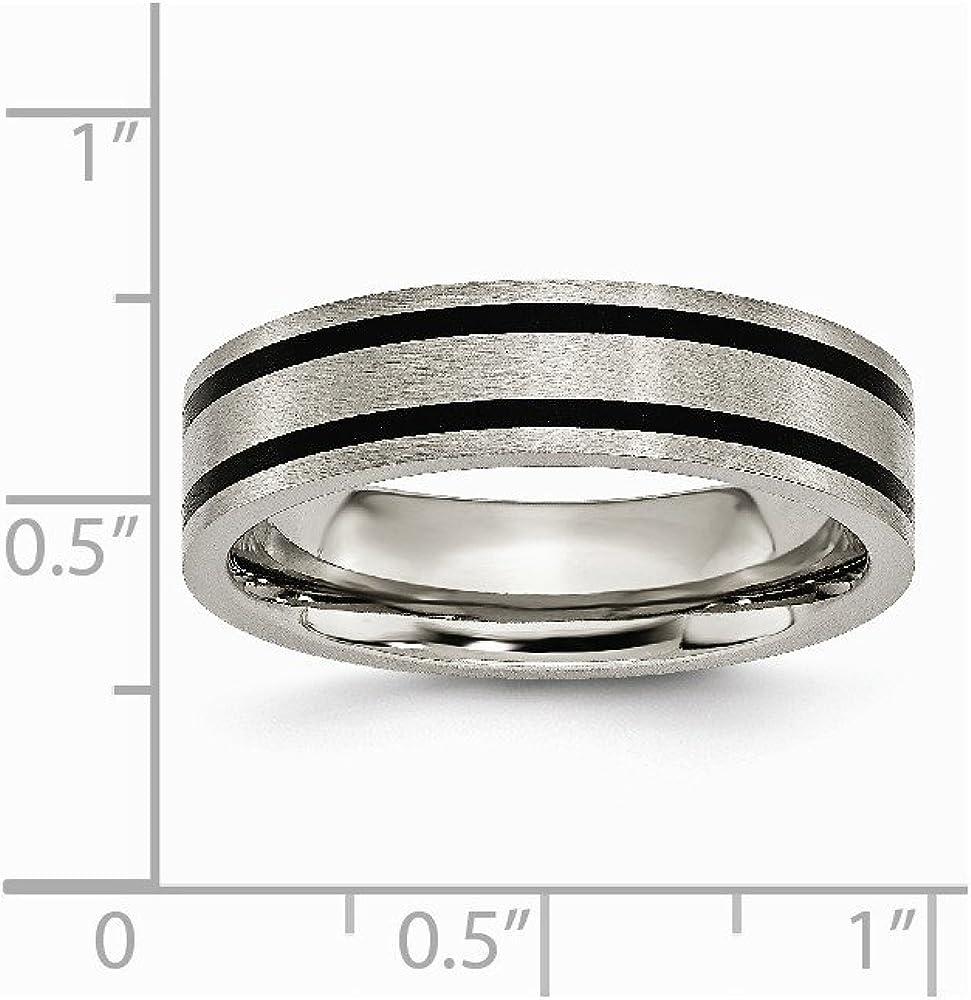 Titanium Brushed Enameled Flat 6mm Wedding Band Fine Jewelry Ideal Gifts For Women