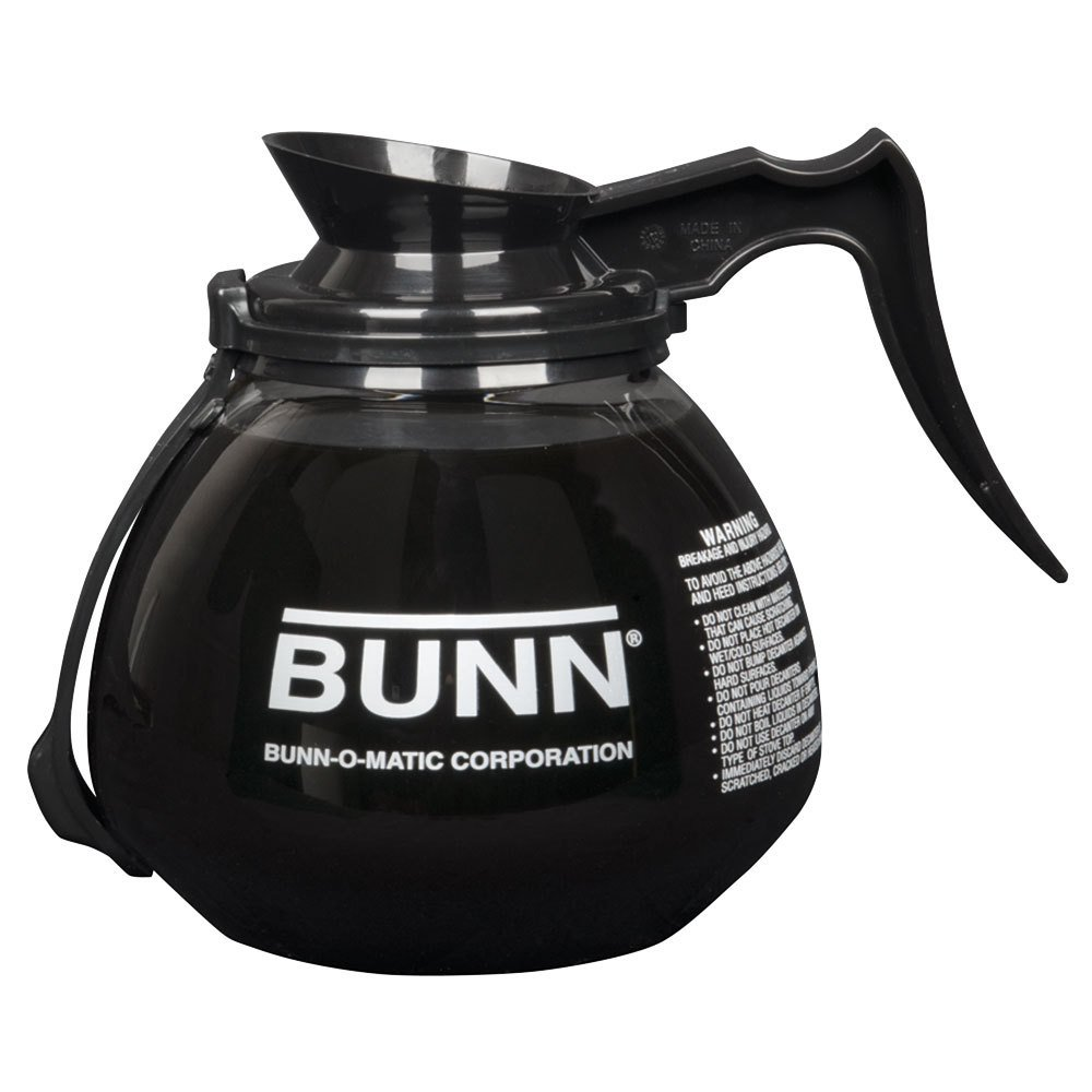 Bunn 42400.0203 64 oz. Glass RFID Decanter with Black Handle - 3/Case