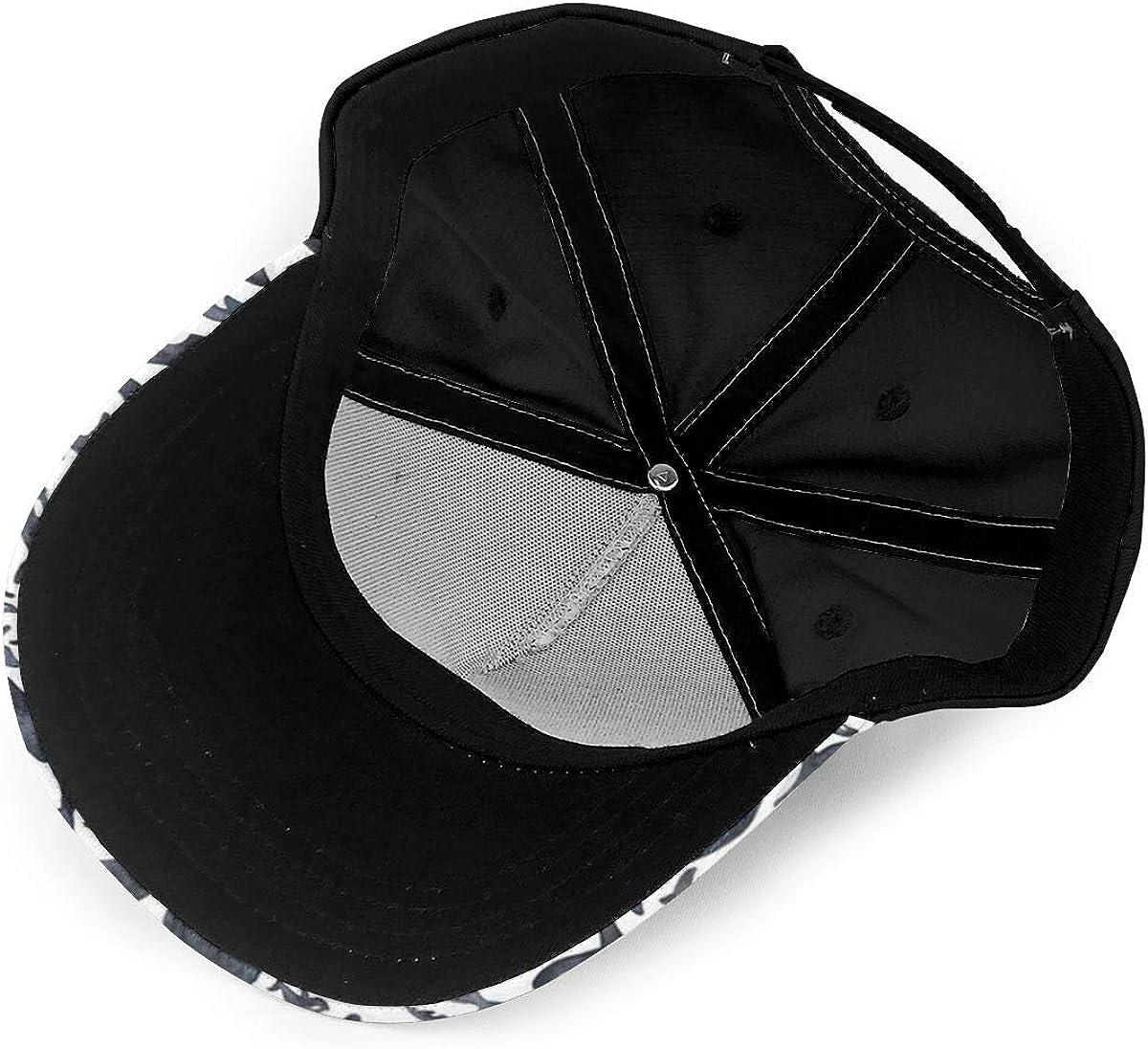 Black Whales Pattern Classic Baseball Cap Men Women Dad Hat Twill Adjustable Size