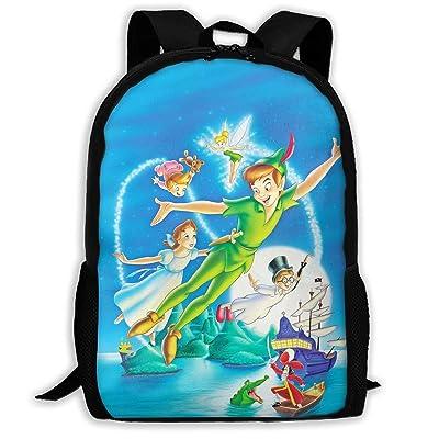 Peter Pan School Backpack, School Bag Laptop Book Bag Boys&Girls Casual Travel Daypack: Clothing