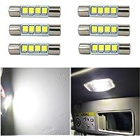 WLJH 6 bombillas LED de luz blanca brillante