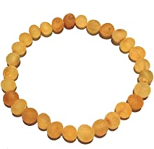 Adult Bees Knees Genuine Raw Honey Baltic Amber Stretch Bracelet Love Amber x UK