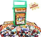 Kyпить ROCK ON! Geology Game with Rock & Mineral Collection – Collect and Learn with STEM-based Educational Science Kit in Carrying Case - Amethyst, Rhodonite, Selenite Crystal, Sodalite and lots more на Amazon.com