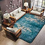 Modern Chinese Style Living Room Rectangle Large Carpet Environmental Protection Anti-skid Rugs ( Color : Green , Size : 190240cm )