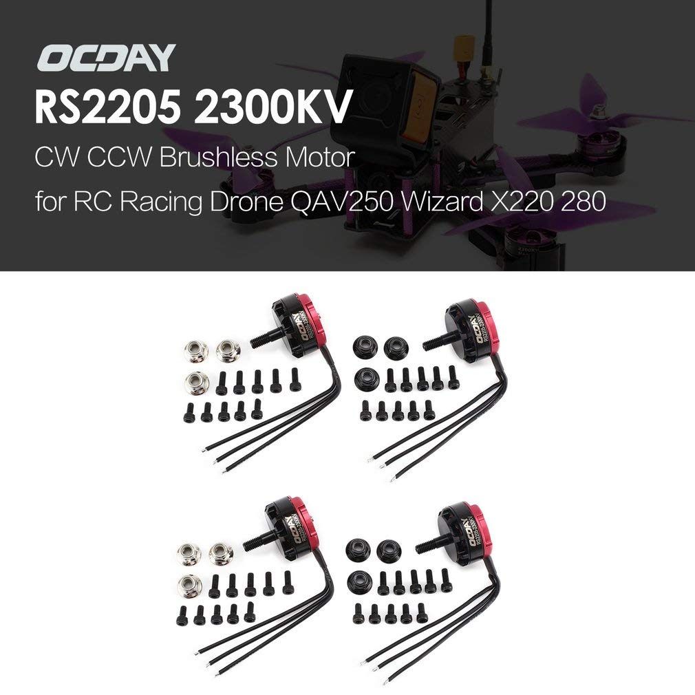 Ggkdalio Ocday Rs2205 2205 2300kv 3 4s Cw Ccw Brushless Motor Circuit For Qav250 Wizard X220 280 Rc Fpv Drone Airplane Helicopter