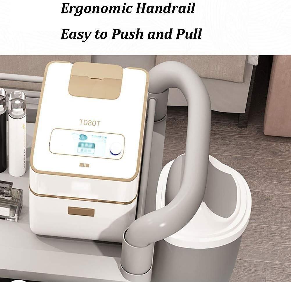 Attrezzature mediche Trolley Colore : Gray, Taglia : 54x37x98cm Zhao Li 3 Tier Utility Carrello con cassetto e vano portaoggetti Commerciale Salone di Bellezza Attrezzature su Ruote Carrello
