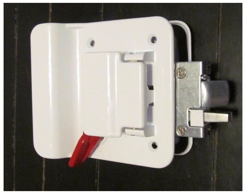 2 White RV Entry Door Lock Handle Deadbolt Keyed Alike Travel Trailer CW FIC by Unknown (Image #2)