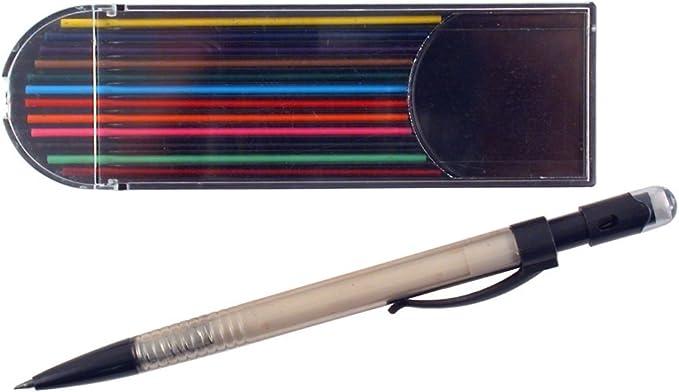 Box of 12 Yasutomo Grip 100 Automatic Mechanical Pencil Pink Barrel 0.5mm