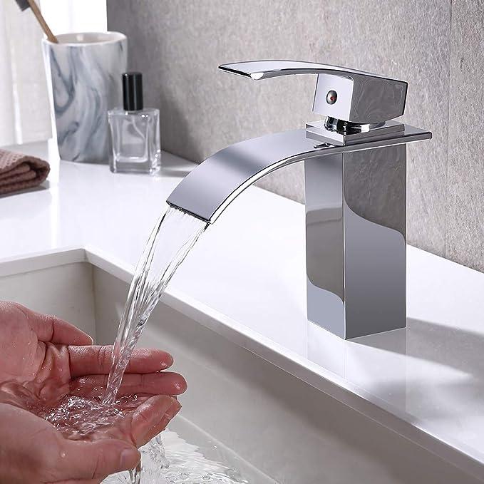 GAVAER Grifo de Lavabo Baño, Grifo Lavabo Monomando lavabo Cascada ...