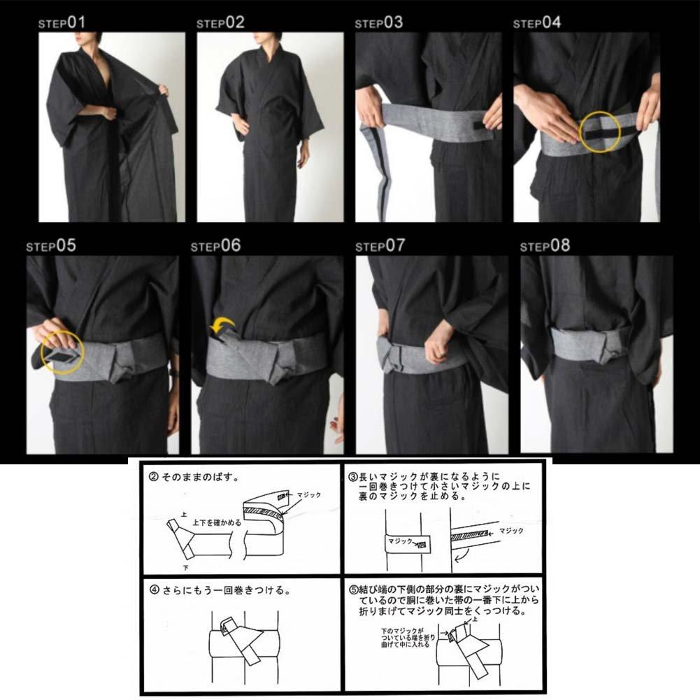 Fancy Pumpkin Hombre Japon/és Yukata Kimono Robe Obi Cintur/ón Harajuku Cintur/ón # 13