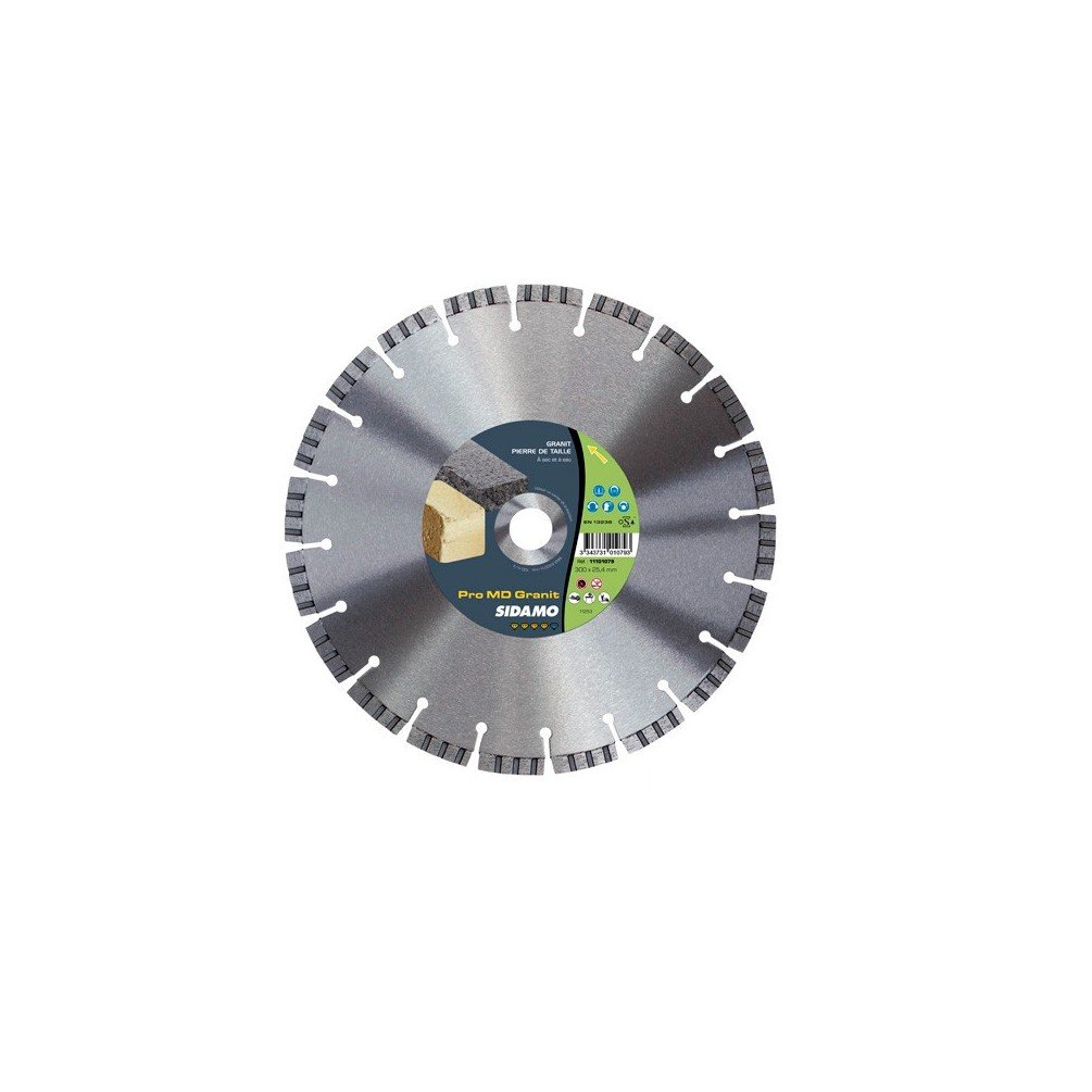 Sidamo–Festplatte Diamant Pro MD Granit D.300x 25,4–20x 10x EPH. 3,2mm–Harte Materialien–11101079