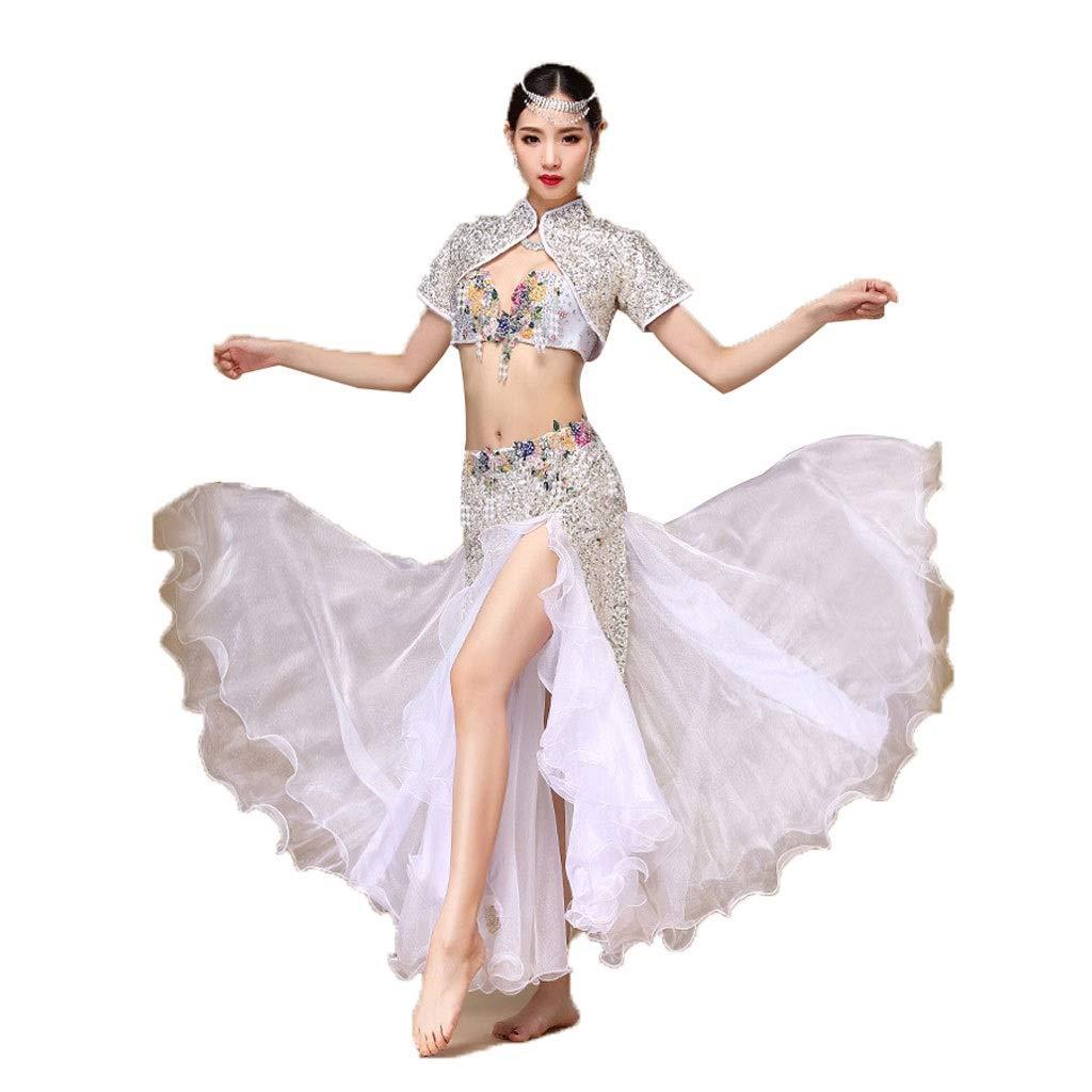 非常に高い品質 大人の女性のベリーダンスの衣装の衣装のブラのスーツセットスパンコールベストパフォーマンス B07PFPJ8WY L l B07PFPJ8WY l|白 白 L l|白 l, ペットガーデン紀三井寺:3aa99f5d --- a0267596.xsph.ru
