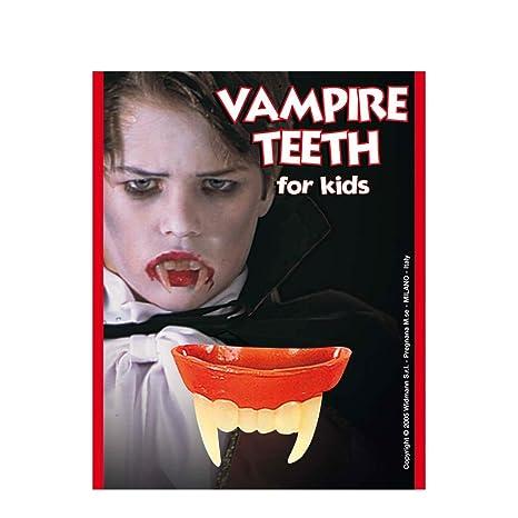 Denti da vampiro per bambini ideali per un costume di Halloween o per  completare vestito da 15c69629a8a9