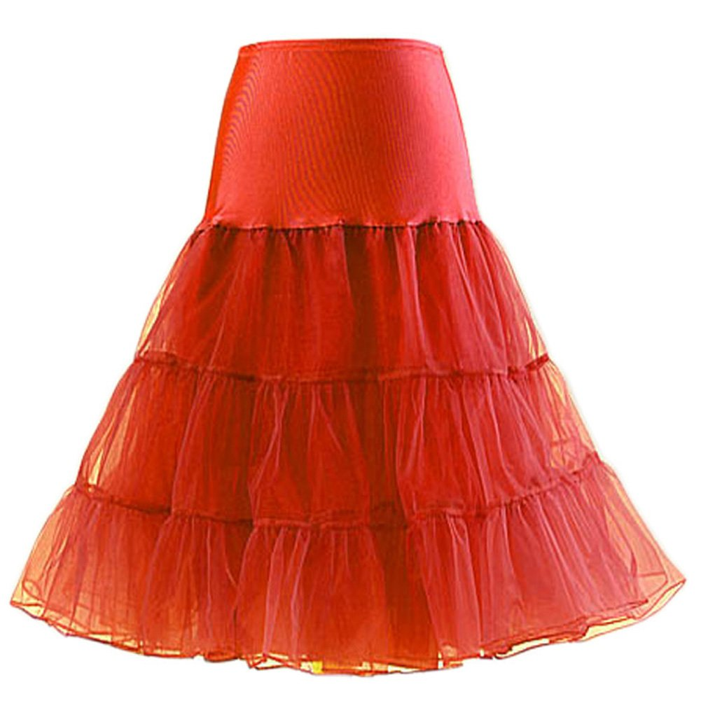 Ensnovo Womens Retro 50s Vintage Rockabilly Crinoline Dress Underskirt Petticoat One Size 66-05-1056-Black-OS