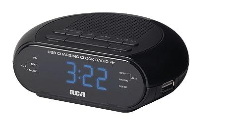 amazon com rca dual wake clock radio with usb charging home audio rh amazon com rca 2 band am fm clock radio manual RCA Alarm Clock Radio Manuals
