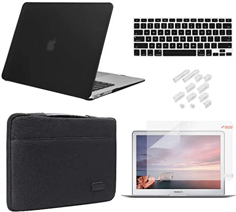 "Flexible Rubberized Case+Zipper Sleeve Bag+Keyboard For MacBook Air 13/"" 3-IN-1"