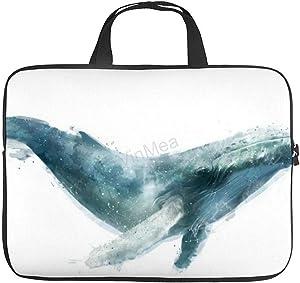 Laptop Shoulder Bag, Funny Poster Pictures Humpback-Whale-Amy-Hamilton Waterproof Laptop Bag Computer Bag for Men Women School Work 15 Inch