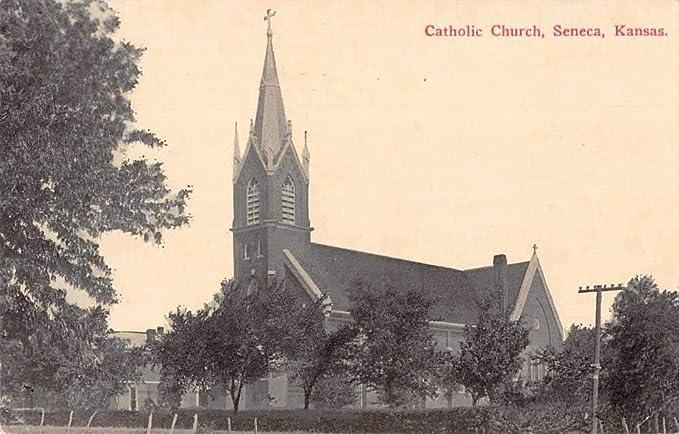 Seneca Kansas Catholic Church Vintage Postcard JB626617 at