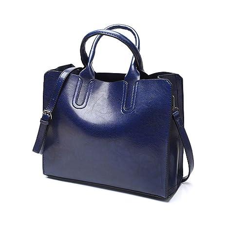 293cb0e9e DEERWORD Para mujer Carteras de mano Bolsos bandolera Bolsos bolera Bolsos  maletín Cuero Azul