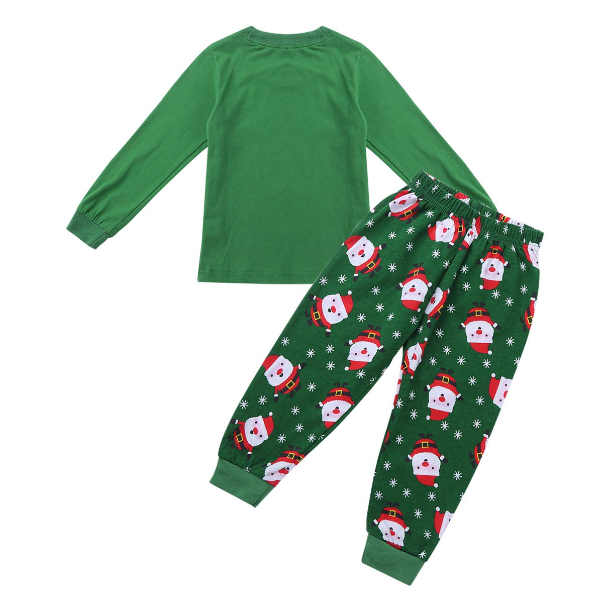 FEESHOW Kids Children Boys Girls Santa Claus Christmas Pajamas Pjs Sets Baby Toddlers Cotton Sleepwear