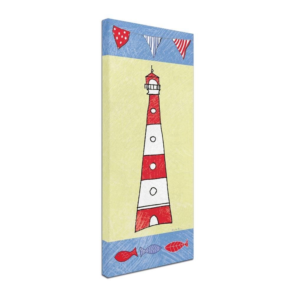 Amazon.com: Trademark Fine Art Coastal Lighthouse I by Farida Zaman ...