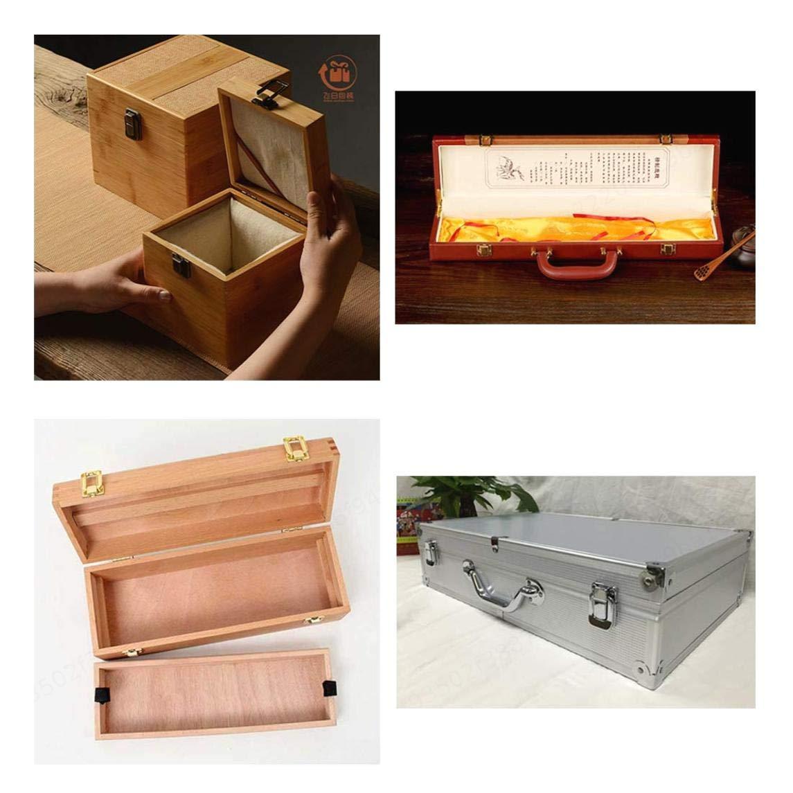 TINGB Lot de 2 verrous /à Bascule vis de Serrage d/écoratives r/étro de 40mm pour Fermoir de Coffre /à Coffre pour Coffre