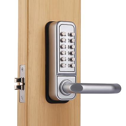 Code Door Lock >> Mechanical Keypad Security Digital Code Door Lock Push Button Entry