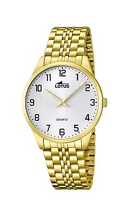 Lotus Reloj Analógico para Hombre de Cuarzo con Correa en Acero Inoxidable 15885/1: Amazon.es: Relojes