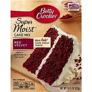 Betty Crocker Super Moist Cake Mix, Red Velvet, 15.25 Ounce (Pack of 3)