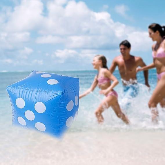 Lamdoo 40 cm géant dés gonflables Beach Garden Party Jeu extérieur ...