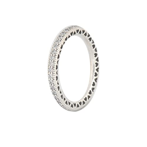 d6308c31f Image Unavailable. Image not available for. Color: Hearts of PANDORA  Sterling Silver Ring ...