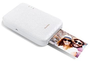 PhotoBee - Impresora fotográfica portátil para movil - Compatible IOS y Android - Blanco