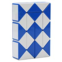 MZStech Magie Serpent Twist Puzzle Toy Collection Wedges 24 Règle magique (bleu)