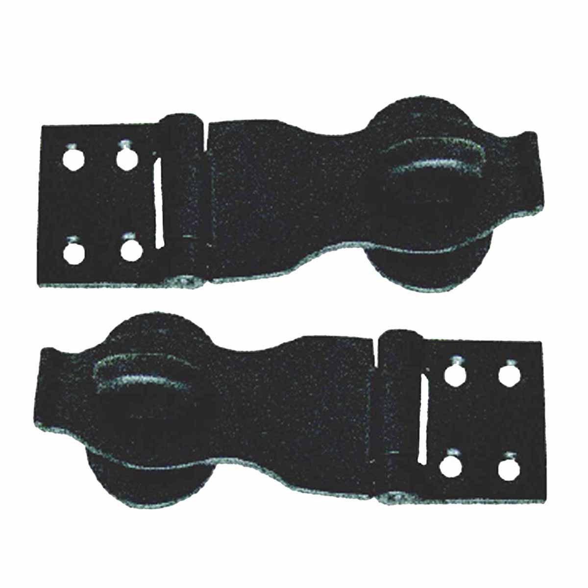 4'' Inch Black Wrought Iron Hasp Renovator's Supply Set of 2