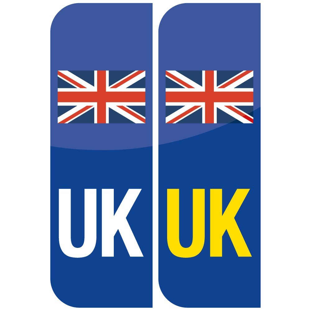 UK Flag Union Jack Badge Car Number Plate Vinyl Stickers United - Vinyl stickers uk