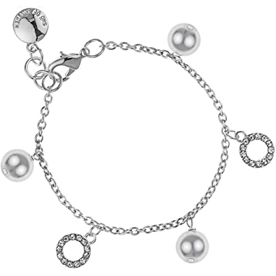 Snö of Sweden Women Silver Plated Stretch Bracelet - 692-5069010 eMSq5