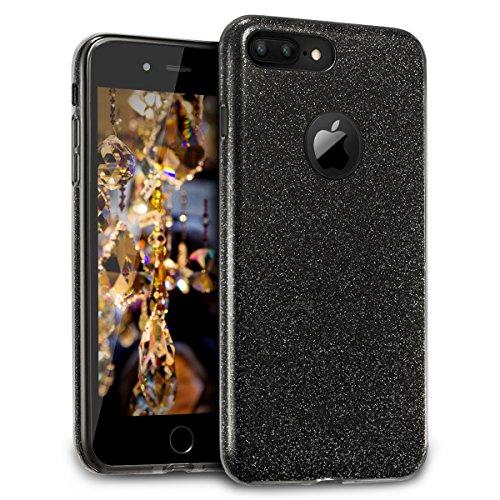 Cheap Cases Velocifire iPhone 7 Plus Case Glitter Black Bling for Girls, Slim Hard..