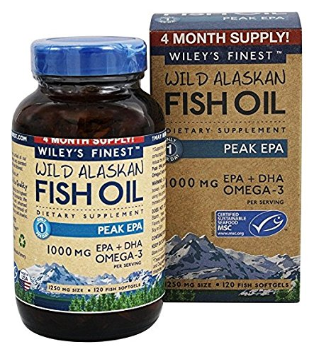 Wiley 39 s finest wild alaskan fish oil omega 3 for Ifos fish oil