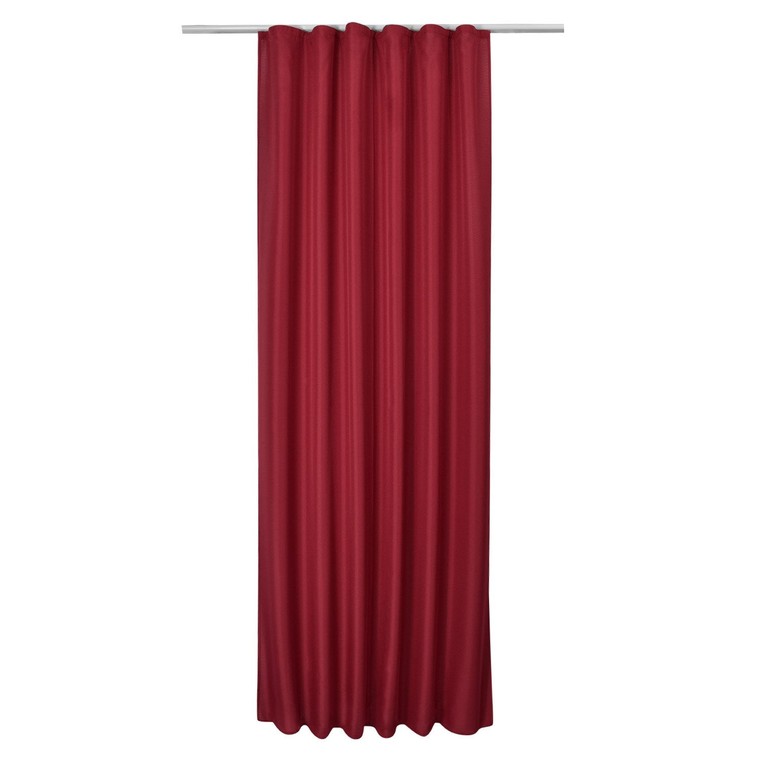 Beautissu Opaque Ribbon-Curtain Amelie 140 cm 245 cm Drop Black Decorative Drape with Ribbon Window-Scarf