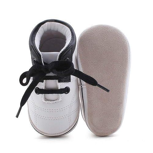 6c0323ba33699 Amazon.com | Delebao Unisex Baby Girls Boys Anit-Slip Lace Up ...