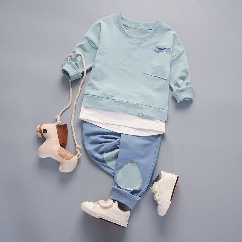 Hosen 2Pcs Set Anzug Outfits Kleidung 0-3Jahre Bekleidung Longra Baby Kinderkleidung f/ür M/ädchen Jungen Langarm Tops Shirt