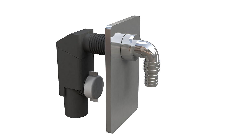 Bonomini 3400cr40b9Siphon à encastrer pour machine à laver ou lave-vaisselle, noir/chromé noir/chromé - placca cromata