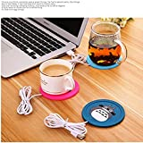 Magnusdeal USB Coffee Insulation Electric Warmer Silicone Cup-Mat (9.5 x 9.5 x 0.5 cm)