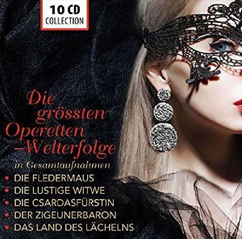Price comparison product image The Greatest Operettas (Complete Recordings): Die Fledermaus, Die lustige Witwe, Die Csárdásfürstin, Der Zigeunerbaron, Das Land des Lächelns