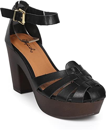 Round Toe Platform Chunky Heel