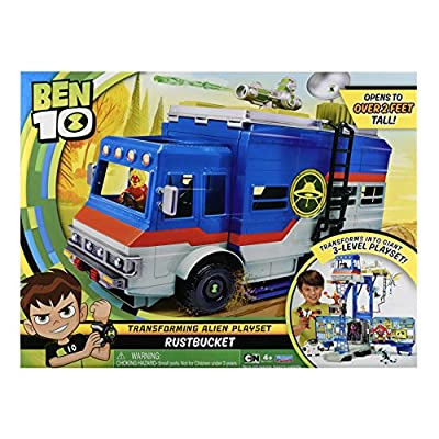 Ben 10 Rustbucket Deluxe Transforming Vehicle to Playset: Toys & Games